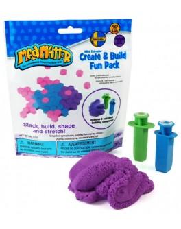 Набор нано песок фиолетовый, формы-шприцы, Waba Fun - sand 220-102
