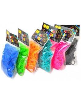Резинки для плетения 2400 шт 12 цветов в наборе  - IQ 104401