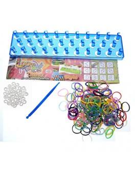 Набор Loom для плетения цветными резинками 200 резинок