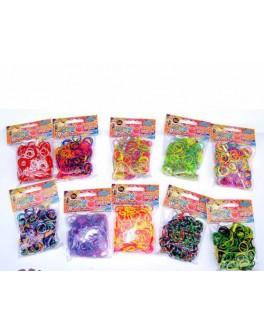 Набор для плетения цветными резинками 300 резинок