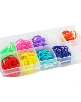 Пополнение к оригинальному набору для плетения цветными резинками Loom 270 резинок - DJ SV11789