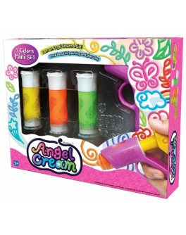 Набор для лепки 3D-крем, 3 цвета с пресс-маркером, Angel Cream - kklab CD08011