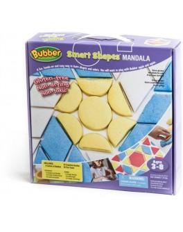 Набор для лепки Bubber Mandala: 4 цвета+формочки - sand 140-112