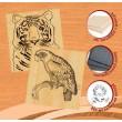 Набір для випалювання по дереву №6 Тигр і Папуга - MLT 96232