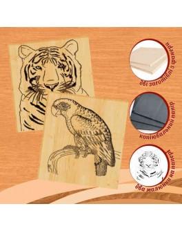 Набор для выжигания по дереву №6 Тигр и Попугай - MLT 96232